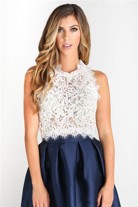 lace top leighton white sleeveless lace top morning lavender