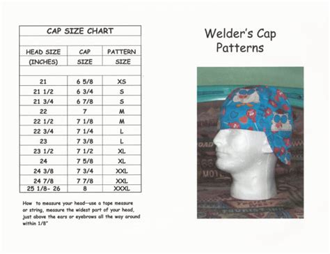 pattern welding hat welder s cap hat pattern by valentine1955 on etsy sewing