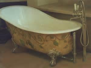 handpainted antique bathtub