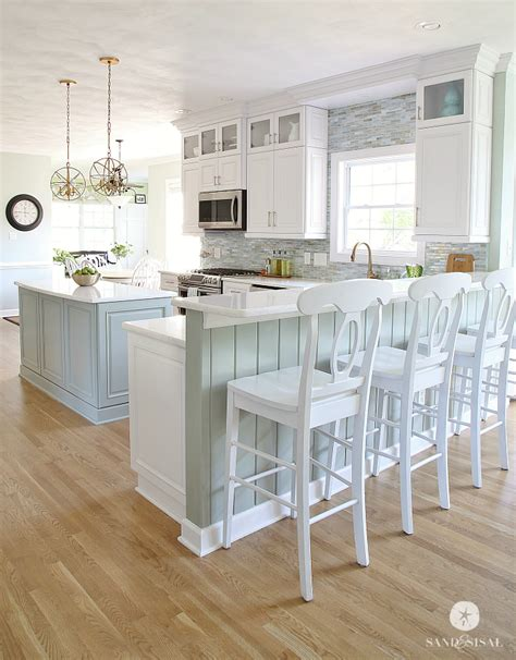 Coastal Kitchen Ideas | coastal kitchen makeover the reveal