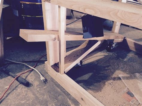 Workbench Chair With Wheels by Workbench Casters With Lift Mechanism Best House Design