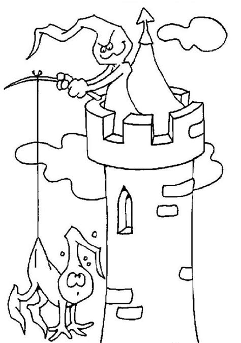 halloween coloring pages castle ghostly tower coloring pages hellokids com