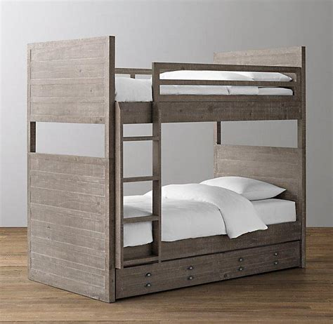 gray wood bed chesterfield upholstered full over full grey bunk bed