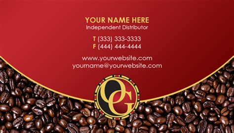 organo gold business card template organo gold business cards templates on curezone image gallery