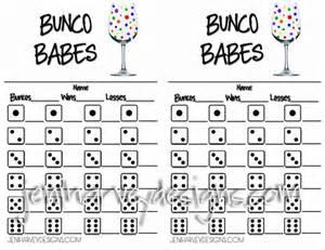 wine glass bunco score sheet by jeniharveydesigns on etsy