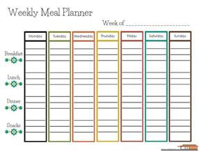 weekly meal calendar template free printable weekly meal planner home with the gades