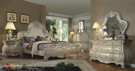 mansion bedroom furniture traditional antique white victorian queen mansion bed 4pc