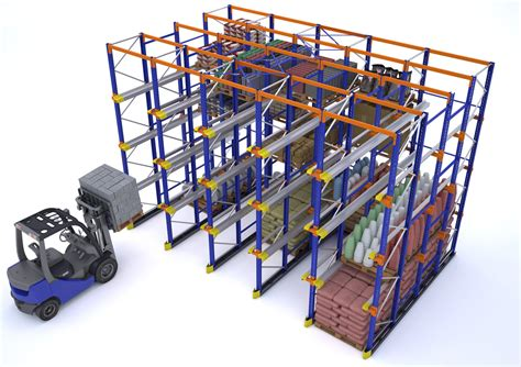 Drive Storage Rack by Drive In And Drive Through Pallet Racks