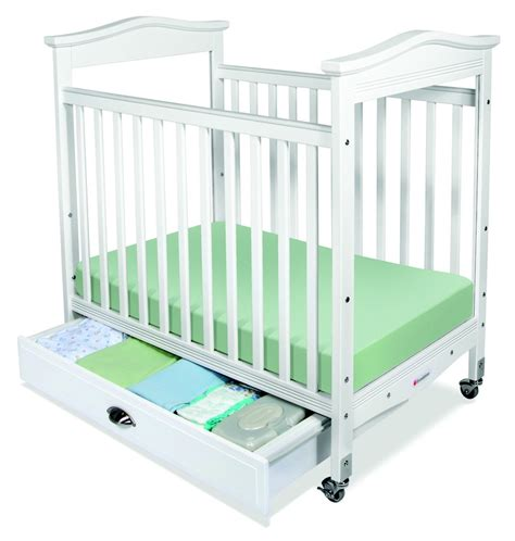 Baby Crib Side Bed Biltmore White Fixed Side Compact Baby Crib Adjustable Bed Height Clearview Cribs Biltmore
