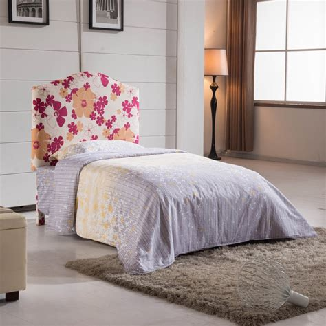 floral headboard floral pattern twin size headboard contemporary