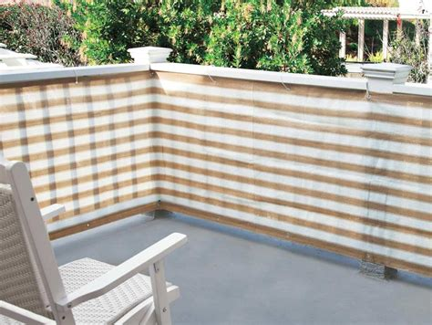 patio railing cover privacy netting screen