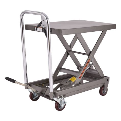 hydraulic lift table cart rolling table cart 500lb capacity hydraulic cart w