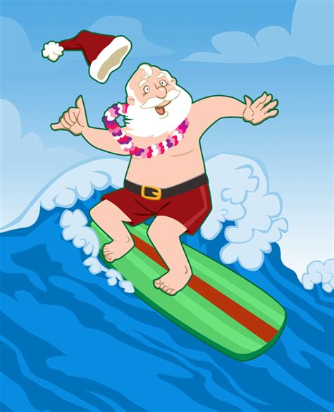 surfing santa by nyrak on deviantart