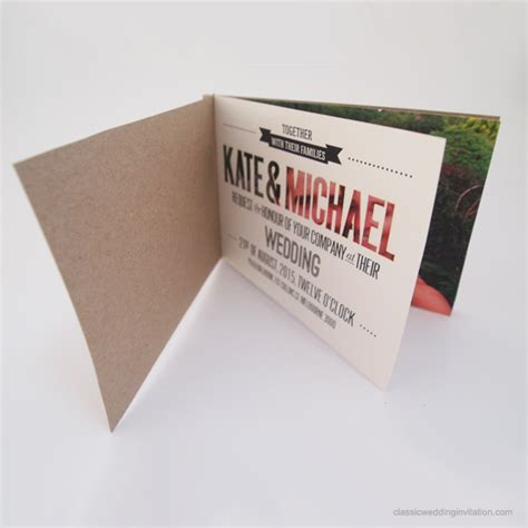 Wedding Invitations Booklet by Laser Cut Booklet Wedding Invitation