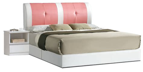 Pink Leather Bed Frame Juliano Faux Leather Bed Frame White Pink Beds Bedroom Furniture Sets Furniture Home