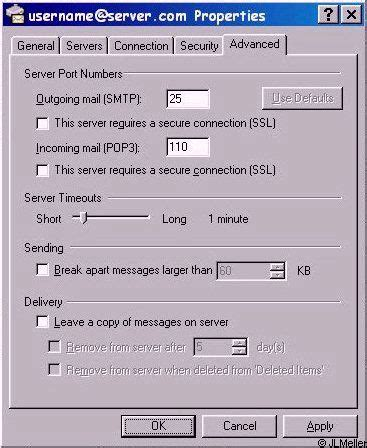 configure xp smpt do you have to use outlook express for email in window xp