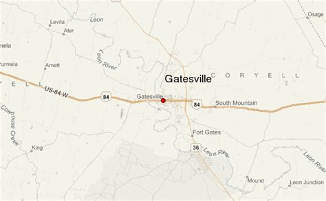 gatesville texas map gatesville location guide