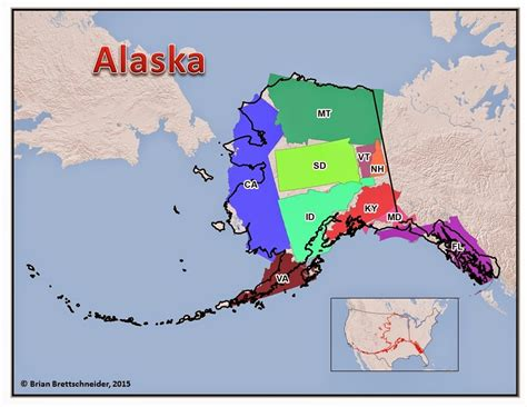 alaska map compared to us brian b s climate alaska size comparison maps