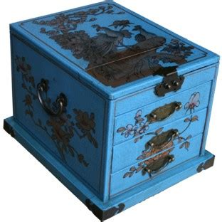 light blue jewelry box mirrored jewellery box
