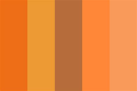 orange color schemes burnt orange color palette