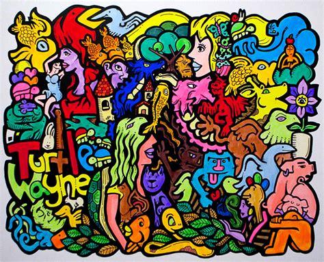 Colorful Doodle Keren turtle wayne s gallery