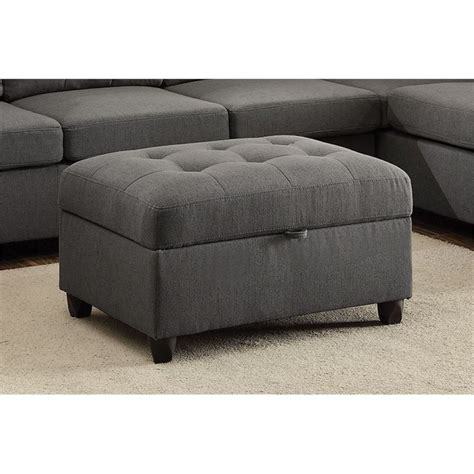 Coaster Storage Ottoman Coaster Stonenesse Storage Ottoman In Gray 500414