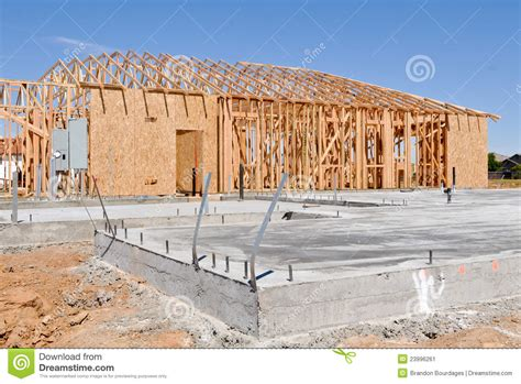 new home foundation concrete foundation of new home stock photography cartoondealer 38990852