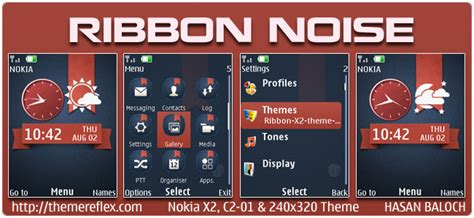 Themes Nokia C2 Don | ribbon theme themereflex