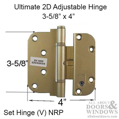 Adjustable Hinges For Exterior Doors Ultimate 2d Adjustable Hinge 3 5 8 X 4 Set Hinge V Outswing Nrp