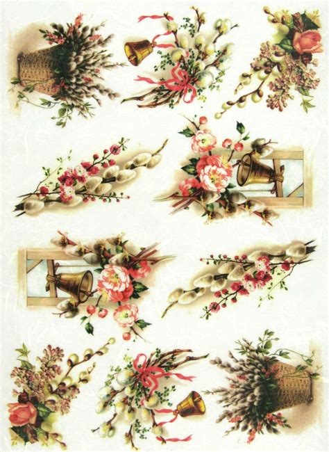 easter decoupage rice paper for decoupage scrapbook sheet craft vintage
