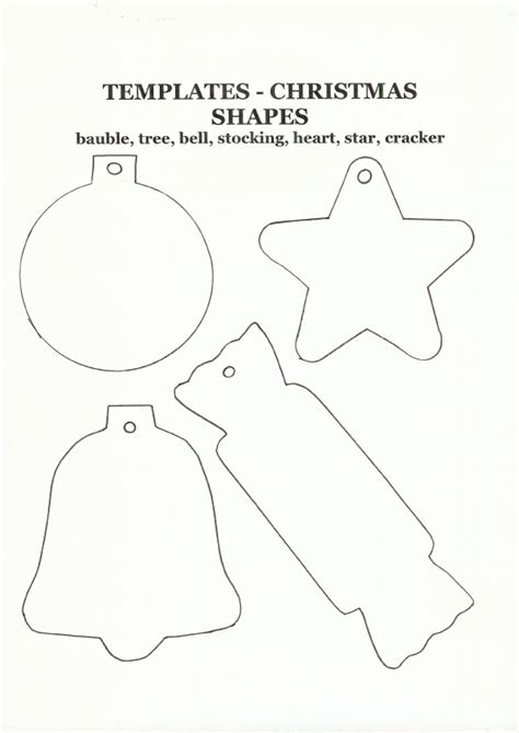 printable templates for christmas crafts best photos of christmas felt ornaments templates free