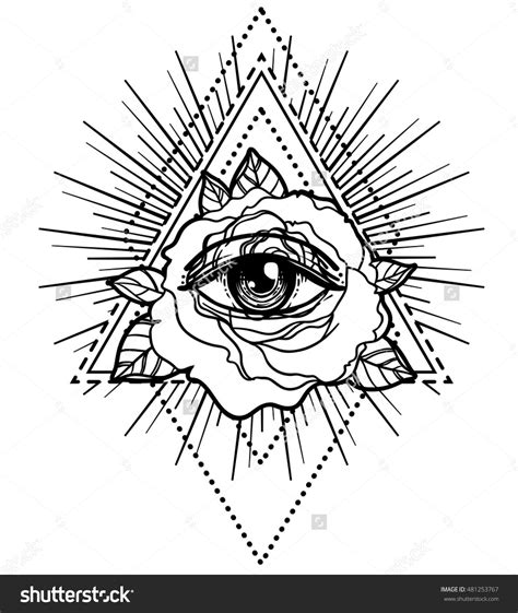 pyramid eye tattoo all seeing eye pyramid symbol with flower sacred