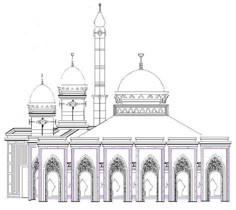 desain konstruksi kubah masjid masjid jami al mujahidin pakuhaji tangerang desain