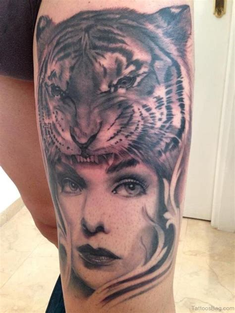 tiger tattoo for girl 40 clean tiger tattoos for leg