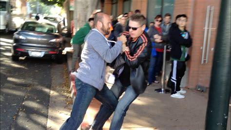 customer drops  iphone  fight breaks youtube