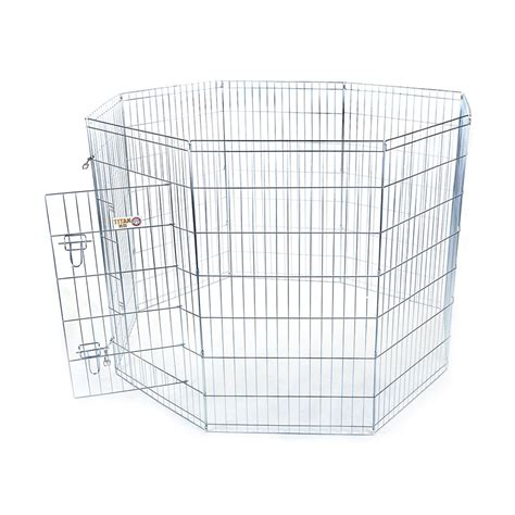 pens at lowes shop majestic pets 48 in silver wire outdoor exercise pen at lowes