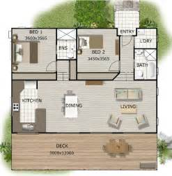 Two Bedroom Granny Flat Floor Plans by Australian Granny Flat 2 Bedroom Cottage Plans Granny