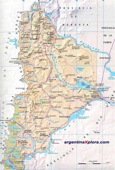 imagenes satelitales de neuquen mapa de rutas y localidades de la provincia del neuqu 233 n