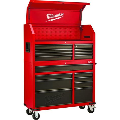 Kitchen Cabinet Roll Out Drawers by Milwaukee 46 In 16 Drawer Tool Chest And Rolling Cabinet
