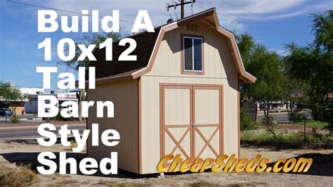 build   tall barn style shed  loft youtube