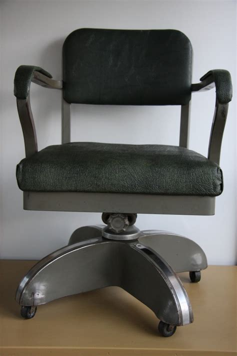 Tanker Desk Chair by Vtg Machine Age Mid Century Modern Retro Industrial Tanker