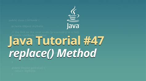 java pattern group replace java tutorial 47 replace method youtube