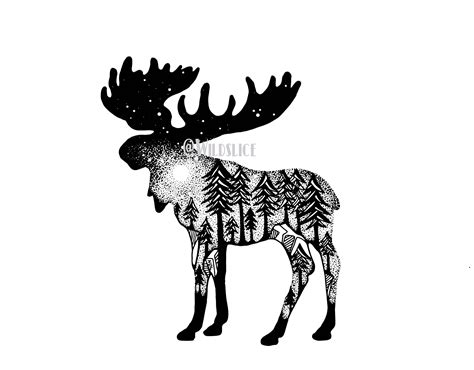 small moose tattoo pin by paxton on to ink or not to ink