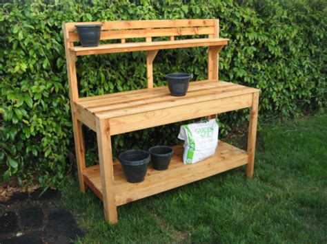 cedar potting bench cedar potting bench from customraisedgardens on etsy studio
