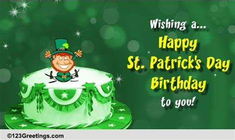 St Day Birthday Quotes St Patrick S Day Birthday Cards Free St Patrick S Day