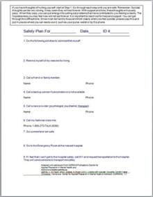 safety plan for suicidal clients template 1000 images about relapse safety plan on