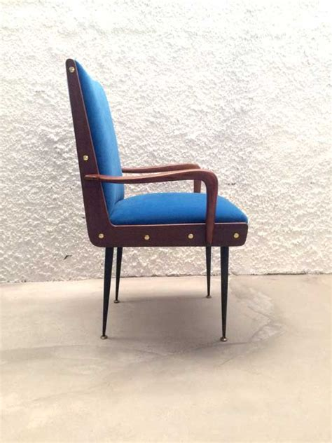 Blue Armchair For Sale by Blue Armchair 1950s For Sale At Pamono