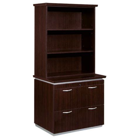 file cabinet with bookcase hutch mocha lateral file with bookcase hutch officefurniture com