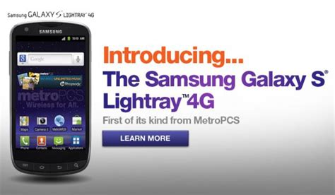 Samsung Galaxy S10 Metropcs by Samsung Galaxy S Lightray 4g Now Official Available At Metropcs