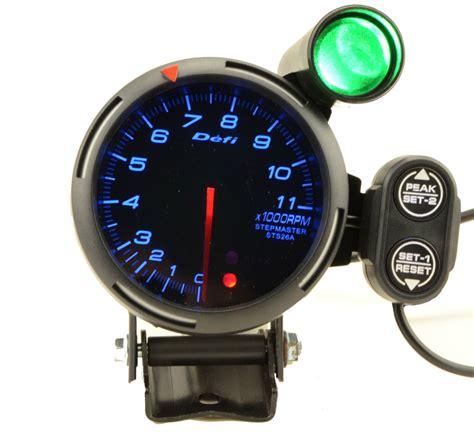 Rpm Led Motor 3 15 quot 80mm defi tachometer stepper motor bf blue led rpm